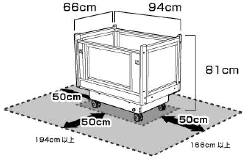 他の写真1: 【ご希望のレンタル期間を選択すると価格が表示されます。】ミニベビーベッドサイズ 揺動型ベビーベッドスイマ(SM301A)【組立不要・往復送料無料】